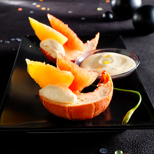 Recette culinaire : queue de langouste aux agrumes