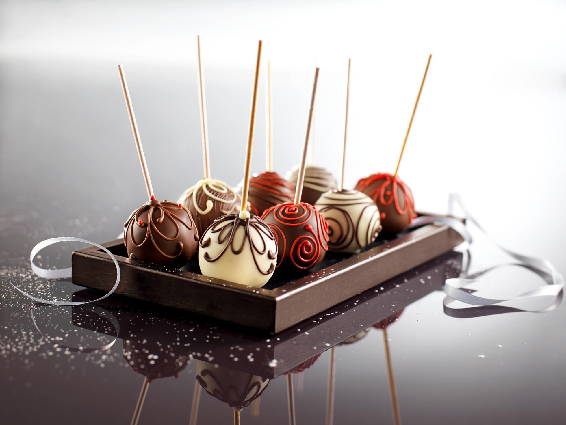 Sucettes aux chocolats
