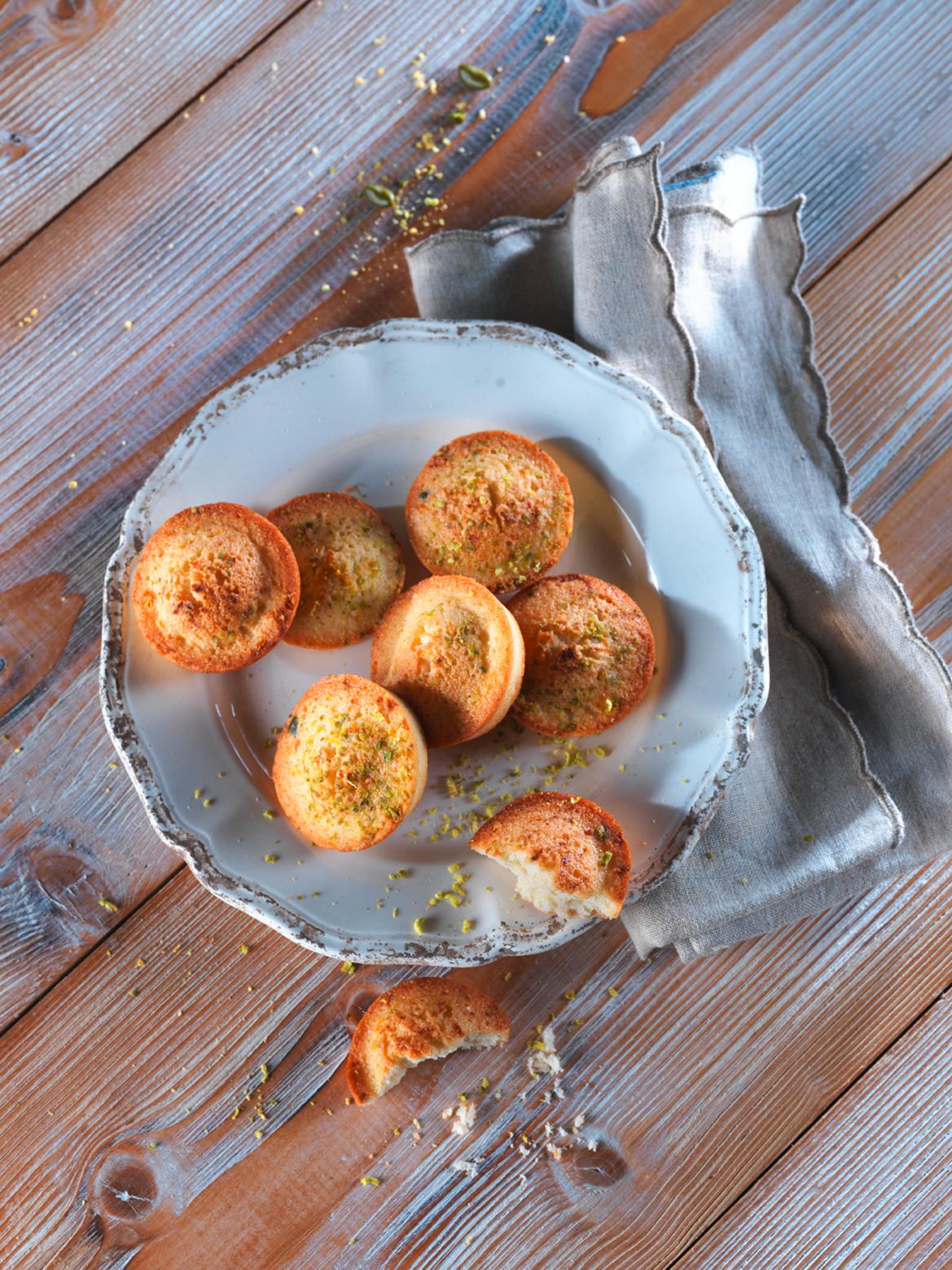 Palets aux citrons et à la pistache
